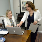 ADAPTING: Key Mediation LLC owners Kristen Sloan Maccini, left, and Christine L. Marinello have had to