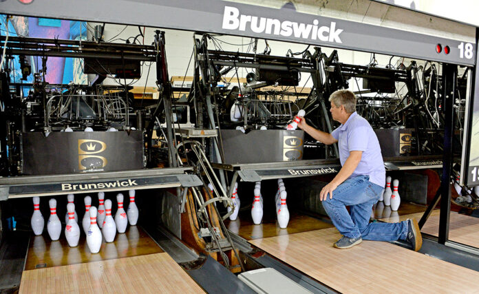 STEEP DROP: Robert Toth, owner of bowling centers Old Mountain Lanes in South Kingstown and Walnut Hill Bowl in Woonsocket, says he saw a $968,720 decline in revenue for March, April and May at the centers as a result of being closed due to the COVID-19 pandemic. / PBN PHOTO/ELIZABETH GRAHAM