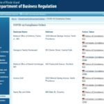 THE R.I. DEPARTMENT of Business Regulation's COVID-19 transparency portal now publicly shows the compliance notices each of the businesses that were forced closed for not implementing COVID-19 safety measures. The notices show that they have since been permitted to reopen after a subsequent inspection by state officials. / COURTESY R.I. DEPARTMENT OF BUSINESS REGULATION