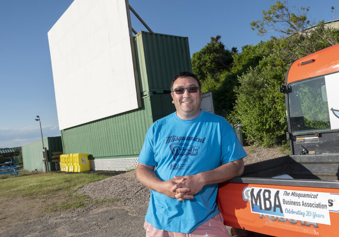 MORE THAN NOSTALGIA: Caswell Cooke Jr., executive director of the Misquamicut Business Association, says families have helped sell out most showings at the Misquamicut Drive-in Theater. / PBN PHOTO/MICHAEL SALERNO
