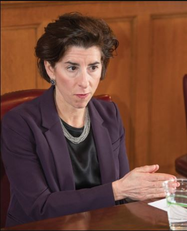GOV. GINA M. RAIMONDO announced plans to allocate $45 million of COVID-19 relief funds to workforce development programs for those left jobless due to the pandemic. PBN FILE PHOTO/DAVE HANSEN