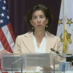 GOV. GINA M. RAIMONDO announces plans to allocate COVID-19 relief funds to transform senior care and invest in the workforce for long-term care. / COURTESY CAPITAL TV