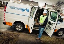 TENS OF THOUSANDS of customers were without power in Rhode Island Wednesday morning, following Tuesday's fast-moving storm. National Grid said it has over 750 workers in Rhode Island trying to restore power. / COURTESY NATIONAL GRID