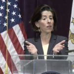 """THE """"TAKE IT OUTSIDE"""" campaign will encourage more outside business-related activities during the coronavirus pandemic, according to Gov. Gina M. Raimondo. / COURTESY CAPITOL TV"""