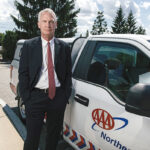 KEEPING PEOPLE SAFE: John Galvin, CEO and president of AAA Northeast, is appreciative of his staff working regularly with the public to continuously offer services during the ongoing COVID-19 pandemic. PBN PHOTO/RUPERT WHITELEY