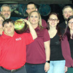 """STRIKING GOLD: Ocean State Credit Union team members show support at the """"Strike for Gold"""" Special Olympics bowling event at East Providence Lanes. COURTESY OCEAN STATE CREDIT UNION"""