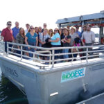 OPEN WATER: Narragansett Bay Insurance Co. employees enjoy a boat tour of the upper Narragansett Bay during a recent company summer outing. COURTESY NARRAGANSETT BAY INSURANCE CO.