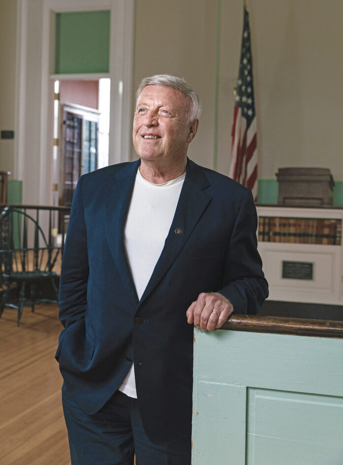 Patrick T. Conley is a former Providence College professor and 1995 inductee into the Rhode Island Heritage Hall of Fame, for which he serves as president. He's also the state's first-ever historian laureate, an attorney and the author of 32 books. / PBN PHOTO/RUPERT WHITELEY