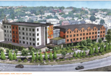 ONE Neighborhood Builders has proposed an apartment building and a childcare center for Parcel 9 of the Interstate 195 Redevelopment District. / COURTESY I-195 REDEVELOPMENT DISTRICT COMMISSION