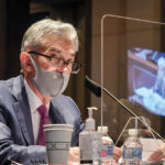 FED CHAIR Jerome Powell said that the economy's recovery from the COVID-19 pandemic may falter without further aid in a speech to the National Association for Business Economics. / AP FILE PHOTO/BILL O'LEARY/THE WASHINGTON POST