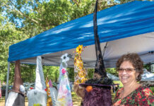 GARDEN PARTY: Paula Pecora Cardi recently launched Cardi's Custom Creations, in which she teaches those who lack artistic abilities how to make, style and design garden gnomes.  / PBN PHOTO/MICHAEL SALERNO