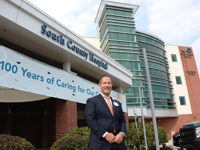 INDEPENDENT-MINDED: Aaron Robinson, CEO and president of South County Health, acknowledges that the COVID-19 pandemic has put a big strain on the small, independent health care company. / PBN PHOTO/ELIZABETH GRAHAM