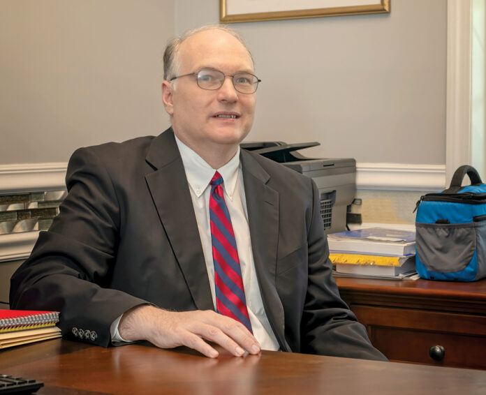 LONGTIME GOAL: David Sheperd, a 25-year veteran of public accounting, opened his own business, David J. Sheperd CPA LLC, in Cumberland in June. / PBN PHOTO/MICHAEL SALERNO