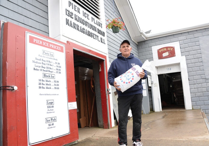 LASTING LEGACY: Robert Shumate, owner of Pier Ice Plant Inc., is a Narragansett Indian Tribe member who is looking to pass the business to one of his sons, just like Shumate's father did decades ago. / PBN PHOTO/ELIZABETH GRAHAM