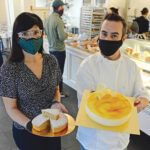 EUROPEAN EXPERIENCE: Co-owners Hercilia Corona and Sergio Mendoza hope to recreate the European experience with their Madrid European Bakery and Patisserie, which opened in Providence in September.  / PBN PHOTO/ELIZABETH GRAHAM