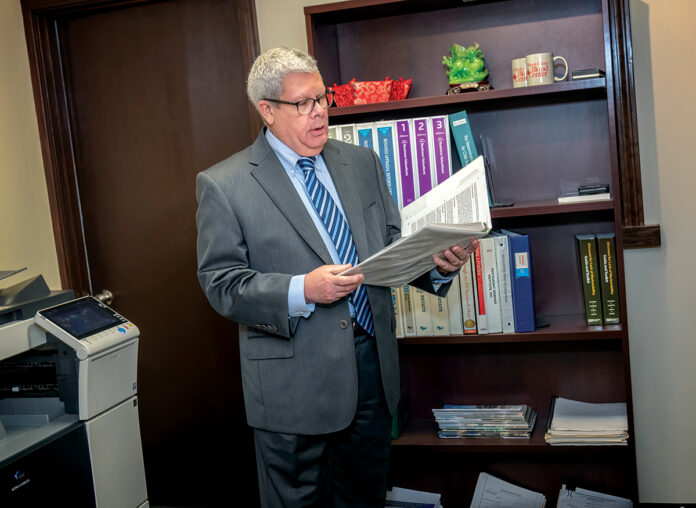 SERVICES SOUGHT: Certified public accountant and certified business appraiser John E. Barrett Jr., principal at Barrett Valuation Services Inc., has experienced increased demand and new challenges in calculating business values since the pandemic hit. / PBN PHOTO/MICHAEL SALERNO