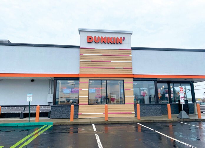 SWEET COATING: The refurbished front façade is part of the rebranding of Dunkin' Donuts to Dunkin'. / COURTESY OF DUNKIN'