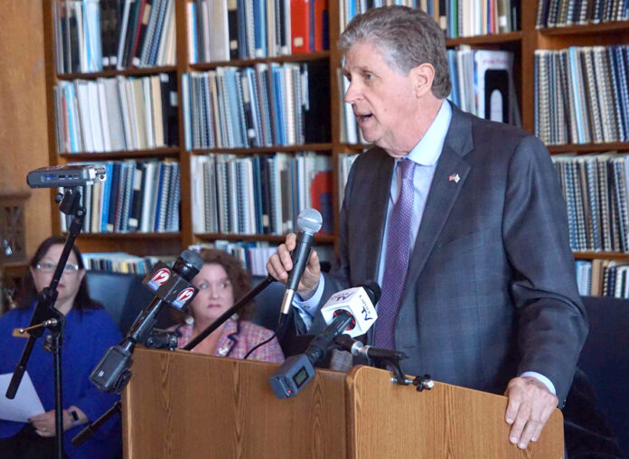 LT. GOV. DANIEL J. McKee sent a letter Monday to Gov. Gina M. Raimondo and R.I. Commerce Corp. Secretary Stefan Pryor asking for immediate changes and increases to the Restore Rhode Island small-business grant program. / COURTESY R.I. OFFICE OF THE LIEUTENANT GOVERNOR