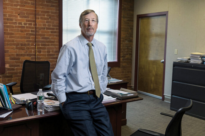 MAJOR MERGER: Care New England Health System CEO and President Dr. James E. Fanale has successfully signed a letter of intent to merge the health care organization with Lifespan Corp. after years of failed discussions. / PBN PHOTO/RUPERT WHITELEY