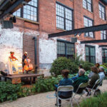 """SOUNDS OF SUMMER: Musicians Ashley Frith and Desmond Bratton perform for an outdoor audience during The Wilbury Theatre Group's """"Decameron, Providence"""" event during the summer of 2020.  / COURTESY ERIN X. SMITHERS"""
