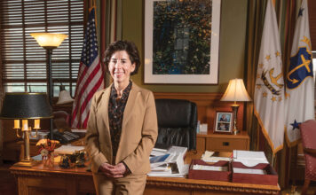 CRISIS MANAGER: Gov. Gina M. Raimondo has had to make many difficult decisions in 2020 as Rhode Island grappled with the COVID-19 pandemic, and she says the recovery process may be difficult, too. / PBN FILE PHOTO/MICHAEL SALERNO