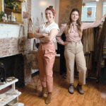 GETTING CREATIVE: Bloom Collective LLC owners Heather Wolfenden, left, and Savannah Barkley hope to support small businesses while filling vacant storefronts with pop-up shops.  / PBN PHOTO/ELIZABETH GRAHAM