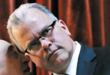 FORMER HOUSE SPEAKER Nicholas A. Mattiello's aide Jeffrey Britt was found not guilty Wednesday of money-laundering charges and violating campaign-finance violations. / AP FILE PHOTO / CHARLES KRUPA