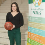 EARNING A SHOT: Talia Thibodeau, a standout basketball player in high school, worried how she would pay for college after she graduated but is working toward an associate degree tuition-free from the Community College of Rhode Island thanks to the Rhode Island Promise Scholarship program. / PBN PHOTO/MICHAEL SALERNO