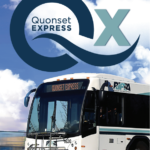 THE R.I. PUBLIC Transit Authority has renewed an agreement with Quonset Development Corp. to extend the pilot Quonset Express commuter service program through June 2022. / COURTESY R.I. PUBLIC TRANSIT AUTHORITY