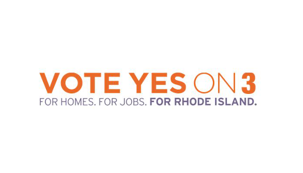 A GROUP OF nonprofits and R.I. Housing and Mortgage Finance Corp. launched Monday its 'Yes on 3' campaign urging Rhode Islanders to approve the affordable-housing bond in the March 2 special election.