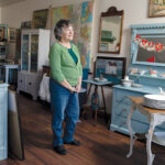 COLLECTOR: Lazy Dog Antiquities owner Karen Amann finds most of her wares in yard sales, online auctions and on Facebook Marketplace.  / PBN PHOTO/RUPERT WHITELEY