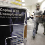 THE NUMBER of individuals collecting continuing unemployment benefits in Rhode Island totaled 70,294 last week. / AP FILE PHOTO/PAUL SAKUMA