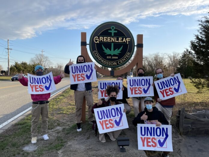 GREENLEAF COMPASSIONATE CARE CENTER employees voted overwhelmingly to unionize and join United Food and Commercial Workers Union Local 328. / COURTESY UNITED FOOD AND COMMERCIAL WORKERS UNION LOCAL 328