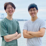 KEEPING TRACK: Justin M. Kim, left, and Michael W. Lai designed an app to help health care workers track their emotional and mental wellness. / COURTESY CRESS HEALTH
