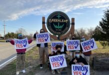 GREENLEAF COMPASSIONATE CARE CENTER employees voted, 21 to 1, to join United Food and Commercial Workers Union Local 328, on April 6. / COURTESY UNITED FOOD AND COMMERCIAL WORKERS UNION LOCAL 328