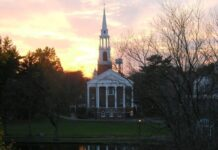 WHEATON COLLEGE announced Friday that it will require students to be on campus for classes starting next fall and does not anticipate continuing its hybrid learning model. / COURTESY WHEATON COLLEGE