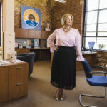 """FORCE FOR CHANGE: Cortney Nicolato, CEO and president of United Way of Rhode Island, says opportunities for change are what keep her motivated, starting with """"breaking down systemic racism and inequities and injustices in this state."""" / PBN PHOTO/RUPERT WHITELEY"""
