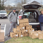 GIVING THANKS: Davitt Inc. employees deliver turkeys and gift bags to all company employees in 2020.  / COURTESY DAVITT INC.