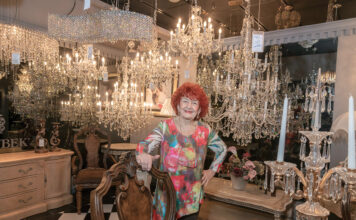 FOCUS SHIFT: Jeanine Lantini, who with her husband bought J. & K. Electrical Supply Co. in Johnston in 1973, has transitioned the company from electrical work to a lighting, design and home decor business. / PBN PHOTO/MICHAEL SALERNO