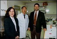Dr. Denise Fraser, Dr. Lawrence<br>Lum and Dr. Gerald Elfenbein.