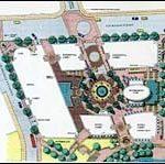 Artist's conception of layout planfor Parcel 2 development.(Courtesy of Eastman Pierce)