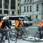 Members of Bike Downtown pass through KennedyPlaza.