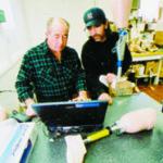 William Teoli, left, CEO of Rhode Island Limb Co.Mark D. Rodgers, prosthetic technician.