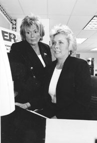 Janice and Maria Gil, co-founders of<br>Professional Records and designers<br>of the ER Card.