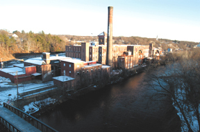 Ashton Mill along the Blackstone River in Cumberland<br>was built in 1878 as a cotton mill.