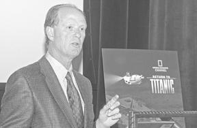 Dr. Robert Ballard, URI oceanography professor