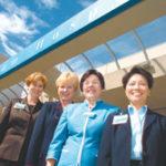 The Miriam Hospital brain trust, from left, Sandra Coletta, Rebecca Burke, Kathleen Hittner and Sandra Cheng. Along with Mamie Wakefield, the team is leading a major renovation.