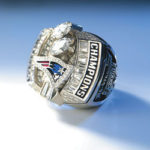 A New England Patriots Super Bowl XXXVIII Championship ring from 2004.