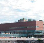 Construction of R.I. Hospital's three-story 'bridge' project is nearing completion. The work began in October 2002.