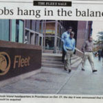 PBN front page from Nov. 3, 2003Fleet Rhode Island headquarters in Providence on Oct. 27, the day it was announced the the bank would be aquired